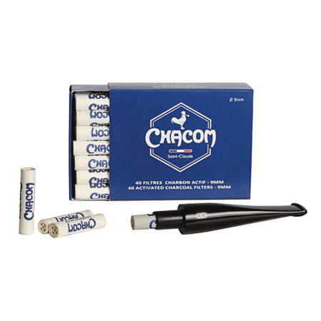 Chacom aktív szén-szűrő filter 9 mm - Új!
