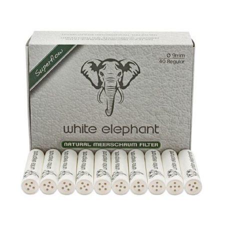 Pipafilter 9 mm tajtékkővel töltött - White elephant